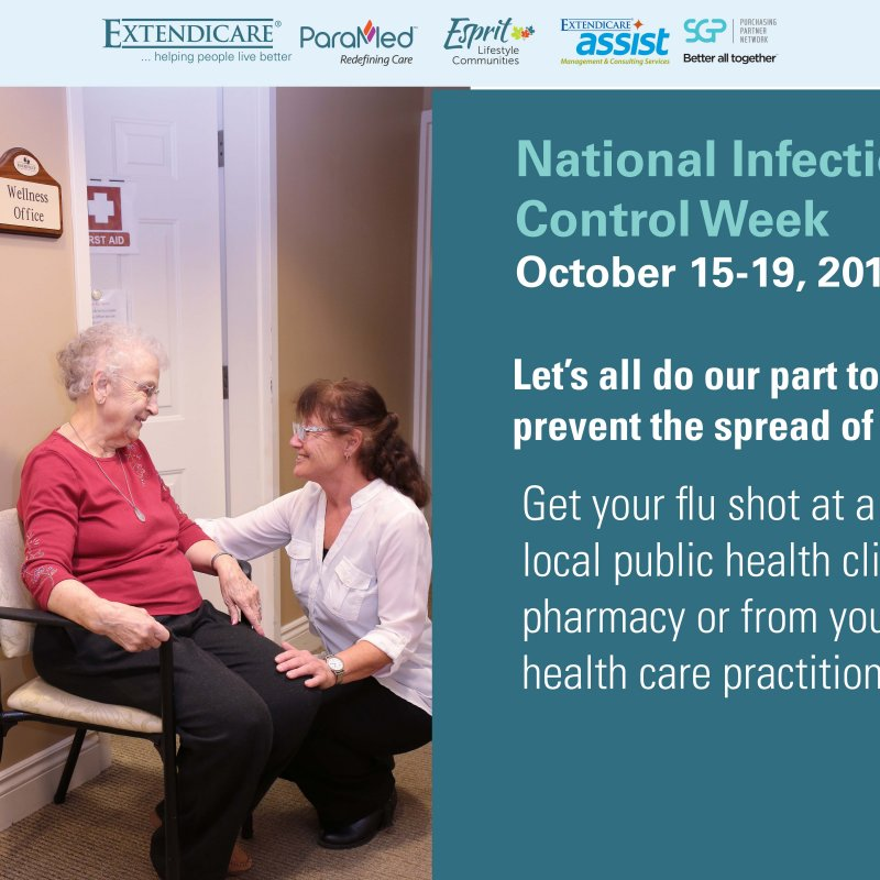 Photo of It is National Infection Control Week.