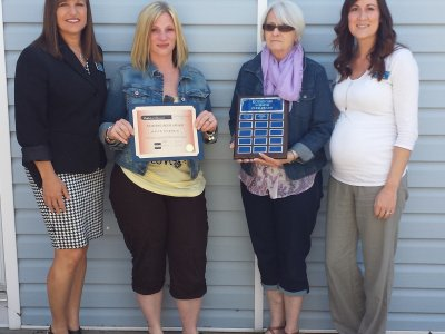 Jaclyn Spereman recieved the Nursing Peer Award. Her mother and sister attended and accepted the award on her behalf.