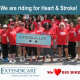 Extendicare Corporate rode the Big Bike and raised over $1,000 towards the Heart&Stroke Foundation.