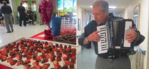 Residents at Extendicare Kingston enjoyed Valentines' treats and music by Murray McNeely
