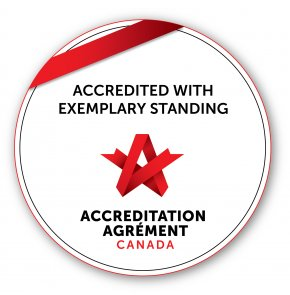 Accredited with Exemplary Standing by Accreditation Canada